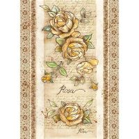 Stamperia A3 Rice paper packed Rose