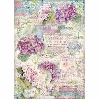 Stamperia A3 Decoupage Rice paper packed Hortensia