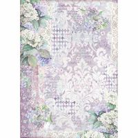 Stamperia A3 Decoupage Rice paper packed Hortensia wallpaper
