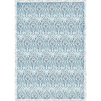 Stamperia A3 Decoupage Rice paper packed Damask blue
