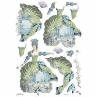 Stamperia A3 Decoupage Rice paper packed Lady Green