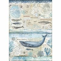 Stamperia A3 Decoupage Rice paper packed History of the whale