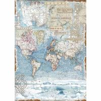 Stamperia A3 Decoupage Rice paper packed Antartic exploration