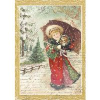 Stamperia A4 Rice Paper packed - Little girl with umbrella