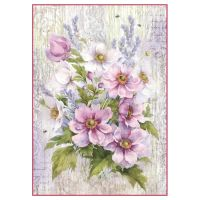 Stamperia A4 Decoupage Rice Paper Packed Liliac bouquet