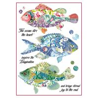 Stamperia A4 Decoupage Rice Paper Packed Fantasy fishes