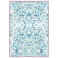 Stamperia A4 Decoupage Rice Paper Packed Blue Arabesque