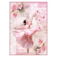 Stamperia A4 Decoupage Rice Paper Packed Dancer with petals