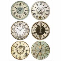 Stamperia A4 Decoupage Rice Paper packed Clocks