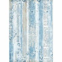 Stamperia A4 Decoupage Rice Paper packed Blue Land texture