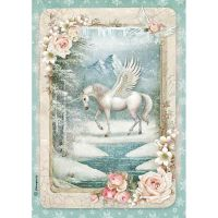 Stamperia A4 Decoupage Rice Paper packed Unicorn