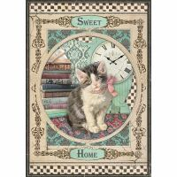 Stamperia A4 Rice paper packed Sweet Home Cat