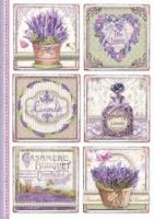 Stamperia A4 Rice paper packed Provence cards