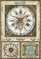 Stamperia A4 Rice paper packed Voyages Fantastiques clock