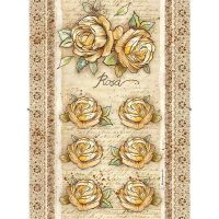 Stamperia A4 Rice paper packed Rose