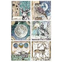 Stamperia A4 Rice paper packed Cosmos cards