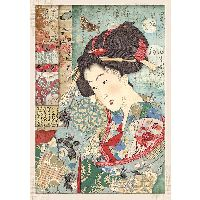 Stamperia A4 Rice paper packed Geisha