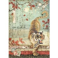 Stamperia A4 Rice paper packed Tiger