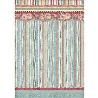 Stamperia A4 Rice paper packed Striped wallpaper