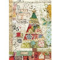 Stamperia A4 Rice paper packed Patchwork tree