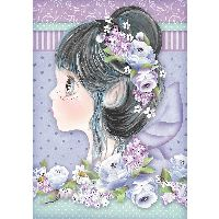 Stamperia A4 Rice paper packed Lilac fairy
