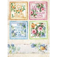 Stamperia A4 Rice paper packed Flowers for you cards