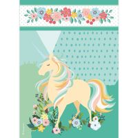 Stamperia A4 Rice paper packed Unicorn