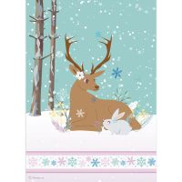 Stamperia A4 Rice paper packed Reindeer and Rabbit