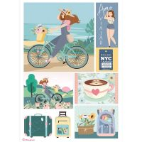 Stamperia A4 Rice paper packed Bicycle