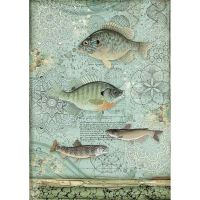 Stamperia A4 Rice paper packed Fish