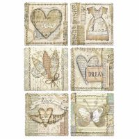 Stamperia A4 Rice paper packed Heart Frames