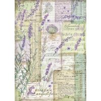 Stamperia A4 Rice paper packed Lavender fantasy