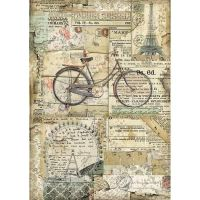 Stamperia A4 Rice paper packed Vintage Bicycle