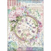 Stamperia A4 Decoupage Rice paper packed Clock