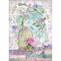 Stamperia A4 Decoupage Rice paper packed Cage