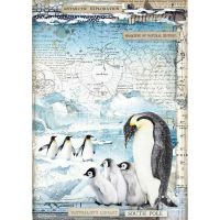 Stamperia A4 Decoupage Rice paper packed Penguins