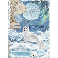 Stamperia A4 Decoupage Rice paper packed Wolf