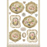 Stamperia A4 Decoupage Rice paper packed Frames