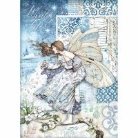 Stamperia A4 Decoupage Rice paper packed Fairy in the wind