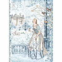 Stamperia A4 Decoupage Rice paper packed Fairy in the snow