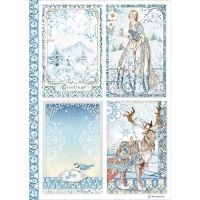 Stamperia A4 Decoupage Rice paper packed Cards