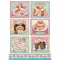 Stamperia A4 Decoupage Rice paper packed Patisserie