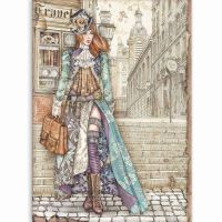 Stamperia A4 Rice paper packed Lady Vagabond