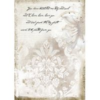 Stamperia A4 Rice paper packed - Romantic Journal manuscrips