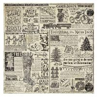 Stamperia Single Napkin in rice paper - Christmas vintage