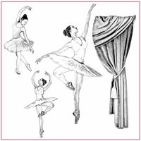 Stamperia Silhouette Art Napkin 50x50 cm Dancer