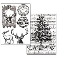 Stamperia Transfer Paper - Tree and Deer (Albero e cervo) - 2 sheets A4