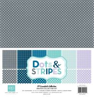 Echo Park Winter Dots & Stripes 12x12 Kit