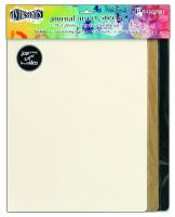 Ranger Dylusions Journal Insert Sheets Assortment Large (3 Black, 3 Kraft, 6 Mixed Media & 1 Sheet of 24 Adhesive Stickers)