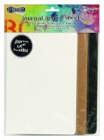 Ranger Dylusions Journal Insert Sheets Assortment Small (3 Black, 3 Kraft, 6 Mixed Media & 1 Sheet of 24 Adhesive Stickers)